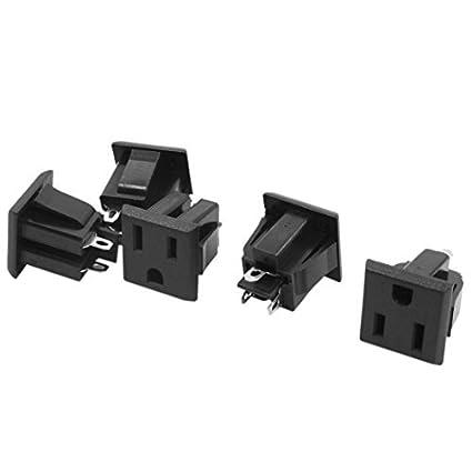 Amazon.com: eDealMax 5 x adaptador de alimentación de CA 125V 15A de EE.UU. Toma eléctrica PCB placa de la Fuente: Electronics