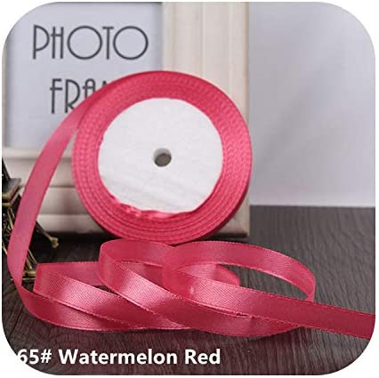kawayi-桃 25ヤード/ロールグログランサテンリボン結婚式のクリスマスパーティーの装飾6mm-40mm DIY弓クラフトリボンカードギフト-Watermelon Red-6mm