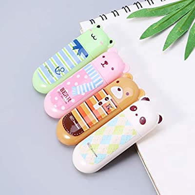 TeemorShop 2Pcs//Set Cute Correction Tape Mini Roller White Out Eraser School Office Stationery Gifts