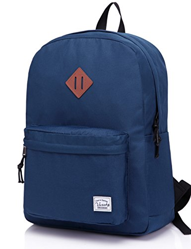 Vaschy Lightweight Backpack,20 Liters Classic Basic Waterproof Collapsible Daypack for Sports and Traveling,Middle School Book Bag with Two Side Pockets - 2 Side Book