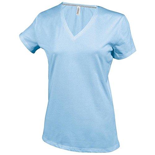 New Womens Short Sleeve V-Neck T-Shirt, tailliert, Damen Outerwear, Casual:  Amazon.de: Bekleidung