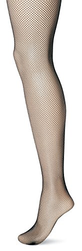 Body Wrappers Seamed Fishnet Tights, Black, 8-10