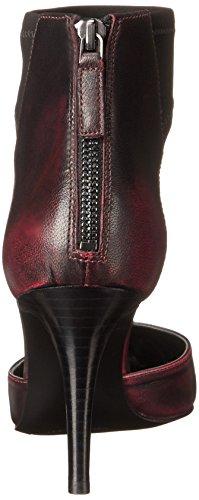 Nueve de la bomba de cuero del vestido apropiado West Red/black
