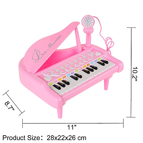 Conomus Piano Keyboard Toy for Kids,1 2 3 4 Year Old Girls First Birthday Gift , 24 Keys Multifunctional Musical Electronic Toy Piano for Toddlers by Conomus (Image #7)