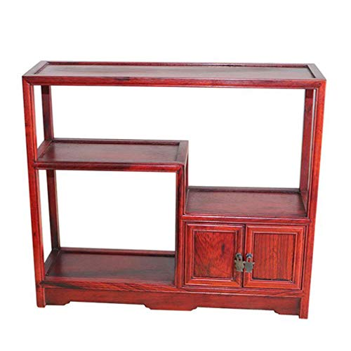 Tea Set Teapot Shelf,Solid Wood Multi-Layer Antique Rack Purple Sand Pot Holder Vase Strange Stone Jade Display Stand