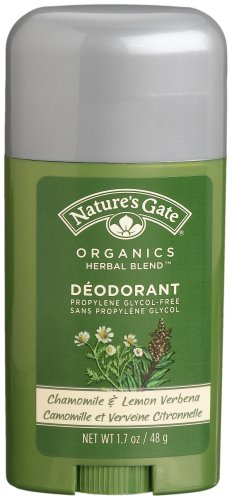 Nature's Gate Organics Deodorant, Chamomile & Lemon Verbena, 1.7 Ounces (Pack of 4)