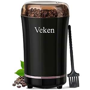Amazon.com: Veken molinillo de café eléctrico para especias ...