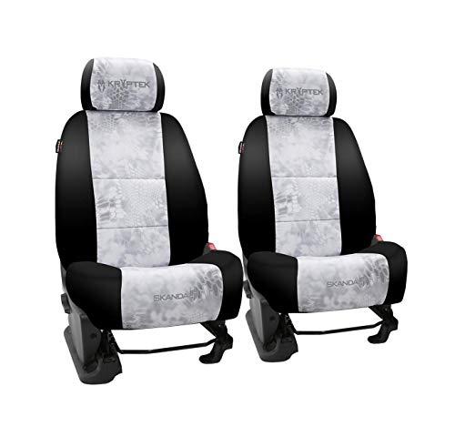 Front Seats: ShearComfort Custom Kryptek Neo-Supreme Seat Covers for Honda Civic (1992-1995) in Black w/Kryptek Neo-Supreme Yeti for Buckets w/Fixed Post Separate Headrests
