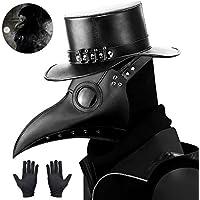 Kungfu Mall - Máscara gótica de médico de la peste negra, para cosplay, retro, estilo «steampunk», máscara de pájaro y…