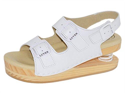 LUVER Federschuhe gefederte Damen Sandale weiszlig; - Federschuhe - clgjr2105w