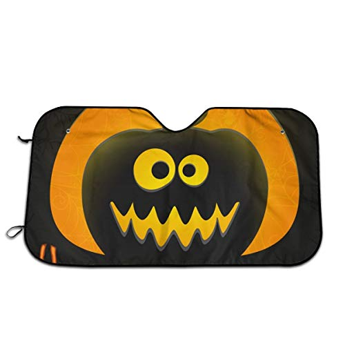 Throwpillow Car Windshield Cover,Funny Halloween Greeting Card