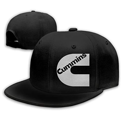 Adjustable Unisex Men Women Cummins Print Baseball Cap Snap Cap Snap - Back Flat Brim Cap Golf Hats Hip Hop Snapback Hat