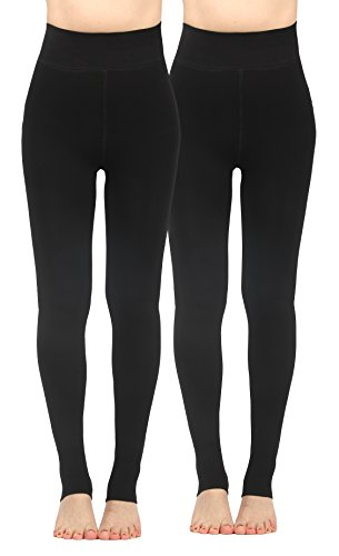 iLoveSIA 2PACK Women's Thick Faux Fur Lined Thermal Legging One Size Fit XS to XL by iLoveSIA (Image #10)