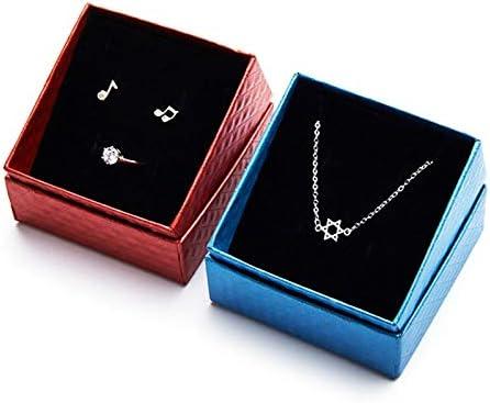 Caja de regalo de la joyería, anillos pendientes caja de collares ...