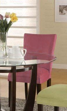 Set of 2 Parson Dining Chairs Mauve Microfiber