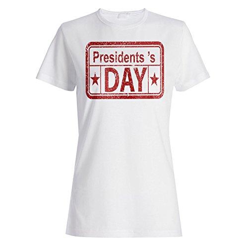 Der Tag des Präsidenten lustige Briefmarkenweinlese Damen T-shirt f462f