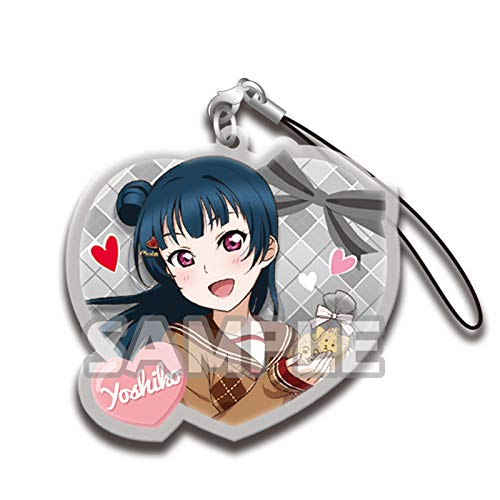 Love Live! Sunshine!! Yoshiko Tsushima Valentine Day Ver. Character Gacha Capsule Acrylic Strap Mascot Collection Vol.4 Anime Girls Art ()