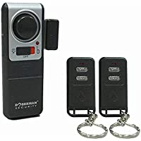 Doberman Security SE-0119A Wireless Door Alarm with 2 Remote Controls (Silver/Black)