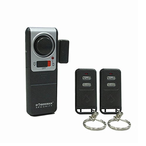 Doberman Security SE-0119A Wireless Door Alarm with 2 Remote...