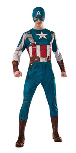 Rubie's Men's Marvel Universe Captain America Winter Soldier Retro Suit Costume
