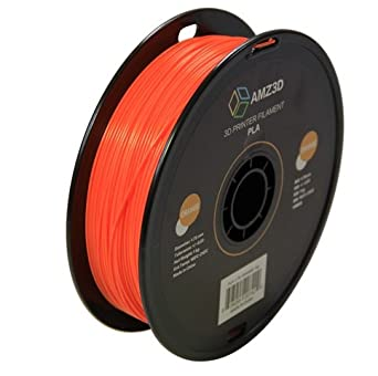 Basics PLA 3D Printer Filament,1.75mm,Orange,1 kg Spool