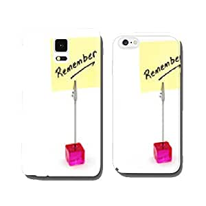 Remember text on a yellow note paper. cell phone cover case Samsung S5