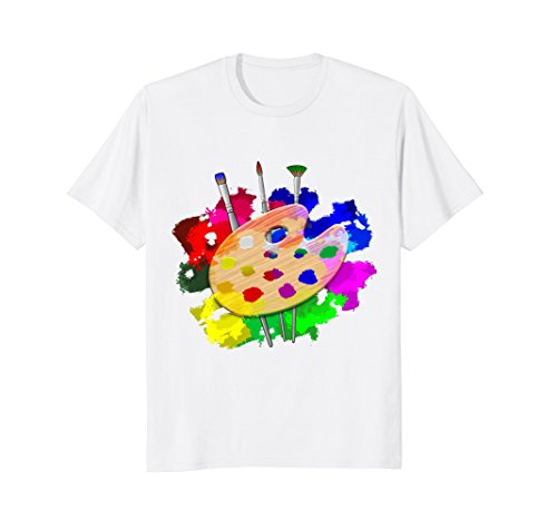 Artist Paint Palette And Brushes Art T-Shirt