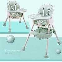 Trona para bebés y niños pequeños, con bandeja extraíble, arnés de 5 puntos y patas de altura ajustable, silla de…