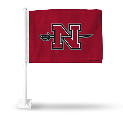 NCAA Nicholls State Colonels Car Flag, Red, with White Pole by Rico
