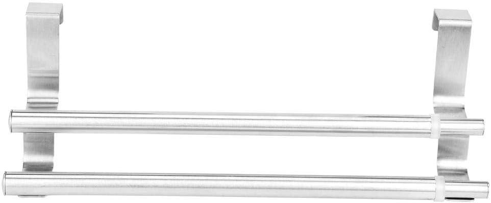 Doble Capa Telesc/ópico de Acero Inoxidable Soporte de Toalla Estante Organizador de ba/ño Ba/ño Cocina Samfox Toallero