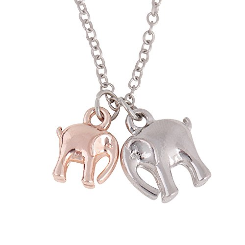 Womens Delicate Two Animal Pendant Necklace Fashion Collarbone Chain ()