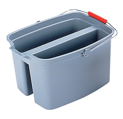 Rubbermaid Commercial 262800 19 Quart Double Utility Pail, Plastic, 18