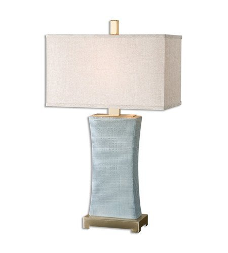 Uttermost 26673-1 Table Lamp 1 Light With Blue-Gray Finish C