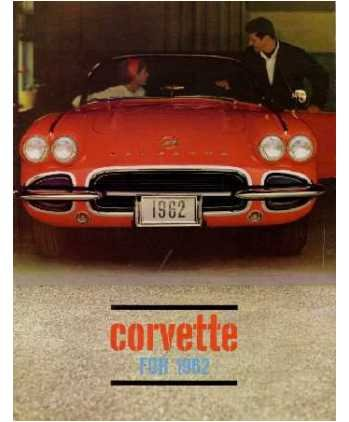 1962 CHEVROLET CORVETTE Sales Brochure Literature Book