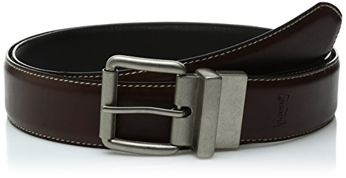 Levi's Men's Big And Tall Brown To Black Reversible Belt,Brown/Black,48 (Big Tall Belt)