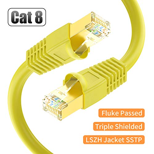 Cable Red Cat8 40GBPS 2000MHZ 1x12mt BIFALE -7X7YXZ7M