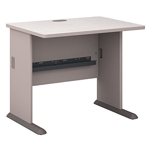 Bush Business Furniture Series A 36W Desk in Pewter and White Spectrum