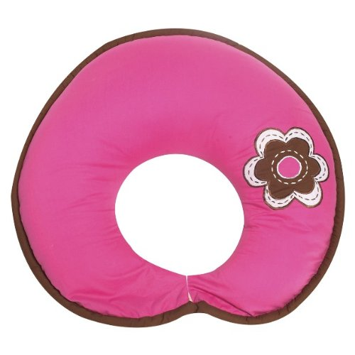 Damask Pink/chocolate Nursing Pillow by Bacati   B002MRBV1Q