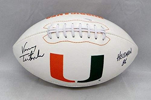 Vinny Testaverde Autographed Miami Hurricanes Logo Football W/ Heisman- JSA W Auth - Vinny Testaverde Football