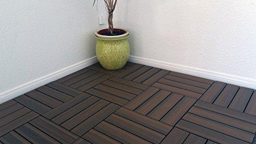 (Vifah V1601 Cedar Composite Interlocking Decking Tile)