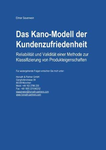 Das Kano-Modell der Kundenzufriedenheit: Reliabilität und Validität einer Methode zur Klassifizierung von Produkteigenschaften Taschenbuch – 29. März 2000 Elmar Sauerwein 3824470705 MAK_new_usd__9783824470709 Wirtschaft / Werbung