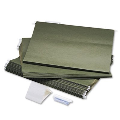 Hanging File Folders, Compressed Paper Fiber, 18 x 14, Green, 25/Box, Sold as 25 Each