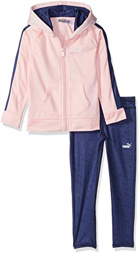 PUMA Little Girls' Track Jacket and Legging Set, Crystal Rose, 5 by PUMA