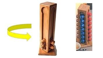 Sostenedor de la cápsula - bambú - Dispensador de Cápsulas para 28 Café NESPRESSO cápsulas -