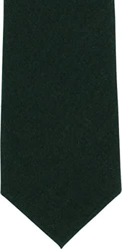 Green Plain Wool Tie by Michelsons of London