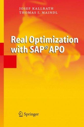 (Real Optimization with SAP APO) By Kallrath, Josef (Author) Hardcover on (05 , 2006) (Anglais) Relié – 1 mai 2006 Josef Kallrath Springer B0068GHY22 9783540225614