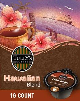 Tully's Hawaiian Blend Coffee Keurig Vue Portion Packs, 64 Count