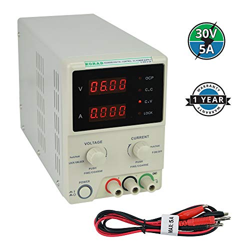 KORAD KD3005D - Precision Variable Adjustable 30V, 5A DC Linear Power Supply Digital Regulated Lab Grade ()