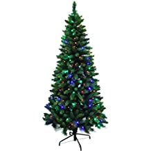 Pre-lit Dual Color LED Lights Mountain Fir Slim Artificial Christmas tree (6ft)