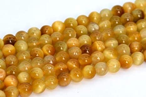 4MM GOLDEN TIGER EYE GEMSTONE AAA YELLOW ROUND 4MM LOOSE BEADS 15.5/""